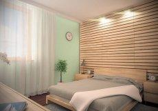 Sypialnia w kolorze mięty, wizualizacja 3d