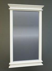 lustro łazienkowe w białej ramie